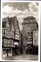 Postcard Linz am Rhein im Kreis Neuwied, Alter Winkel am Rheintor