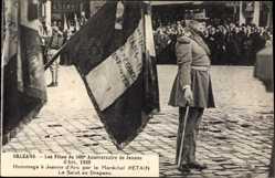 Postcard Orléans Loiret, Fetes du 500e Anniversaire Jeanne d'Arc 1929, Marechal Petain