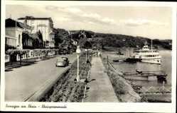 Postcard Remagen im Kreis Ahrweiler, Rheinprmenade, Salondampfer, Hotel Fürstenhof