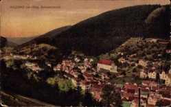 Postcard Bad Wildbad im Kreis Calw Baden Württemberg, Blick auf den Ort