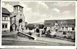 Postcard Hausen Heimbach in der Eifel, Burghotel mit Kurgarten, Franz Adam