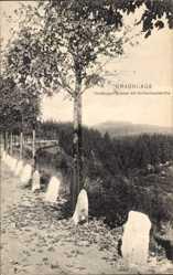 Postcard Braunlage im Oberharz, Harzburger Straße mit Achtermannshöhe