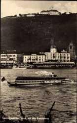Postcard Königswinter im Rhein Sieg Kreis, Petersberg, Salondampfer Rheinland