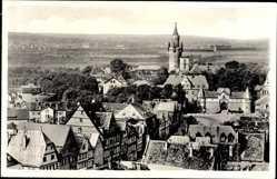Postcard Friedberg im Wetteraukreis Hessen, Blick auf die Burg und Bad Nauheim