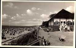 Foto Ak Graal Müritz im Kreis Rostock, Strandpartie, Meer, Promenade