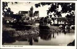 Postcard Diez im Rhein Lahn Kreis Rheinland Pfalz, Blick auf den Ort und altes Schloss