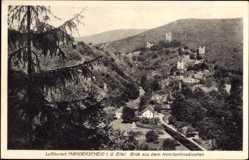 Postcard Manderscheid in der Eifel Rheinland Pfalz, Blick aus dem Konstantinwäldchen