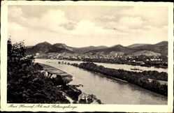 Postcard Bad Honnef im Rhein Sieg Kreis, Blick auf den Ort mit Siebengebirge