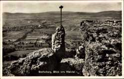 Postcard Bad Staffelstein am Main Oberfranken, Blick ins Maintal, Felsen