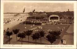 Postcard Travemünde Lübeck Schleswig Holstein, Konzertgarten des Städt. Kursaales