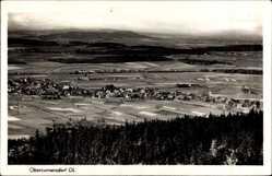 Postcard Obercunnersdorf Kottmar Oberlausitz, Totalansicht der Ortschaft