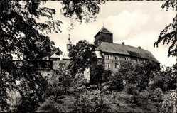 Postcard Attendorn Sauerland, Bundesbahn Erholungsheim Burg Schnellenberg