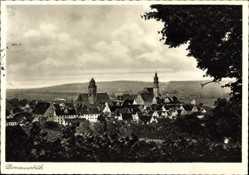 Postcard Donauwörth im schwäbischen Kreis Donau Ries, Panorama der Stadt