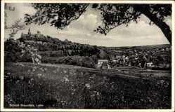 Postcard Braunfels im Lahn Dill Kreis, Panorama, Wiese, Burg