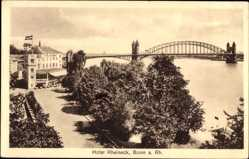 Postcard Bonn in Nordrhein Westfalen, Hotel Rheineck, Brücke