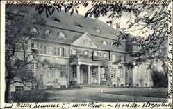 Ak Gać Główczyce Speck Pommern, Schloss, Balkon, Eingang