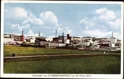 Postcard Litzmannstadt Łódź Lodsch Polen, Teilansicht von der Südost Seite