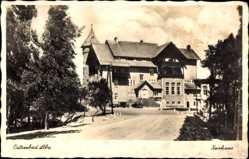 Ak Łeba Leba Pommern, Ostseebad, Ansicht vom Kurhaus