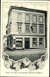 Postcard Linz am Rhein im Kreis Neuwied, Weinhaus zur Traube, B. Peiß, Brennerei