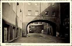 Postcard Haselünne Emsland, Ursulinenkloster, Torbogen, Hof, Fassade