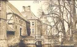 Postcard Rinkerode Drensteinfurt, Blick auf Schloss Borg, Brücke, Tor