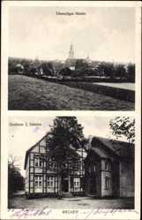 Postcard Welver Kreis Soest, Ehemaliges Kloster, Gasthaus J. Schütter, Fachwerkhaus