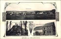 Postcard Hellenhahn Schellenberg, totalansicht, Seitenstein, Gasthaus J. Schilling