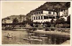 Ak St. Goarshausen am Rhein, Hotel Restaurant Zum Deutschen Haus, Deinet