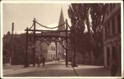 Foto Ak Bünde im Kreis Herford, Gustav Hotfilter, Willkommensgruß für Soldaten