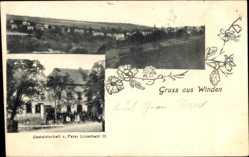 Postcard Winden bei Nassau, Gastwirtschaft Peter Linscheid III, Totalansicht