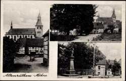 Postcard Altenrüthen Möhne Rüthen im Kreis Soest Nordrhein Westfalen, Kirche, Denkmal