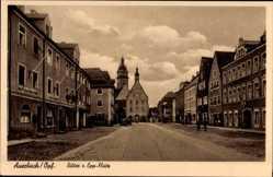 Postcard Auerbach Oberpfalz, Blick auf den Ritter von Epp Platz, Malermeister Fischer