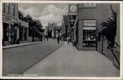 Postcard Cloppenburg in Niedersachsen, Mühlenstraße, Geschäft Diekhaus