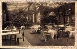 Postcard Münster in Westfalen, Wintergarten,Cafe Kaiserhof,Oscar Försterling