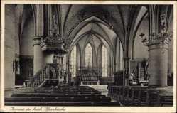 Postcard Horstmar in Westfalen, Inneres der katholischen Pfarrkirche