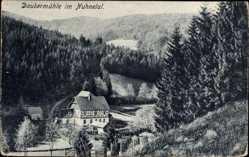 Postcard Winterberg im Hochsauerlandkreis, Daubermühle im Nuhnetal, Fachwerkhaus