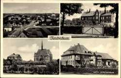 Postcard Neubeckum Beckum im Kreis Warendorf, Kath. Krankenhaus, Vereinshaus