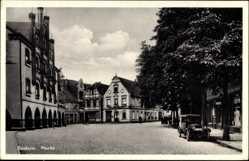 Postcard Beckum im Kreis Warendorf, Blick auf den Markt