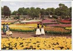 Postcard Hamburg Mitte, Internationale Gartenbau Ausstellung 1953, Kakteenhäuser