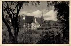 Postcard Werl im Kreis Soest Nordrhein Westfalen, Teilansicht der Ortschaft, Kirchturm