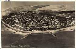Postcard Norderney in Ostfriesland, Blick auf die Insel, Fliegeraufnahme