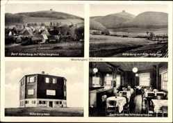 Postcard Lügde im Weserbergland, Köterberghaus, Gasthof, Speisesaal, Köterberg