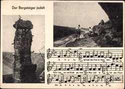 Lied Ak Der Bergsteiger jodelt, Bergsteigerlied, Waldtorwächter im Bielatal