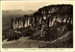 Ak Elbsandsteingebirge, Bloßstock Gruppe mit Kleiner Zschand, Hahn 11138