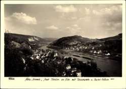 Ak Wehlen Sächs. Schweiz, Walter Hahn 8561, Ort mit Rauenstein und Bastei