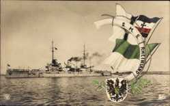 Ak SMS Rheinland, Deutsches Kriegsschiff, Kaiserliche Marine