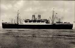 Postcard Dampfschiff Hamburg, HAPAG, Ansicht Backbord