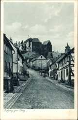 Postcard Westerburg im Westerwaldkreis, Aufgang zur Jugendburg