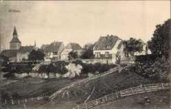 Postcard Rüthen im Kreis Soest Nordrhein Westfalen, Gesamtansicht mit Turm, Felder