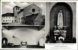 Postcard Alzen Morsbach im Oberbergischen Kreis, Herzmarien Kirche, Fatima Madonna